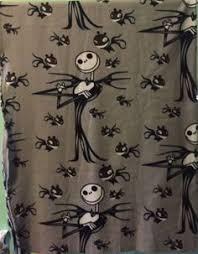 nightmare before fleece fabric panel throw blanket or