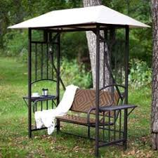 porch swing and canopy