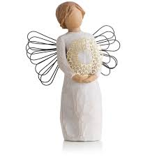 Angels Home Decor by Willow Tree Angel With Heart Wreath Hospitality Figurine