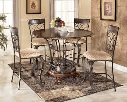 stunning bar height round dining table with santa clara furniture