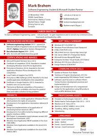 Formats For A Resume Format Format For Resume