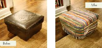 Oversized Loveseat With Ottoman Ottoman Mesmerizing Ottoman Before And After Slipcover Cool