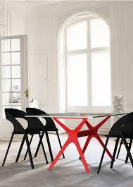 Esszimmer St Le Ohne Lehne Vela Und Carla In Schwarz Und Rot Tisch Und Stuhl Gibt Es Bei Www