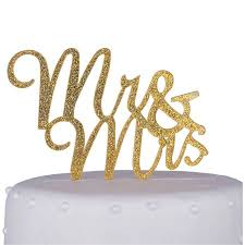 glitter cake topper unik occasions mr and mrs script acrylic cake topper gold