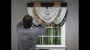 waterfall valance how to hang curtin ideas pinterest
