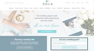 wedding registry website how do i find a zola