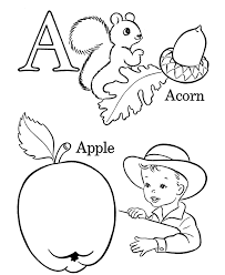 printable colored letters kids coloring