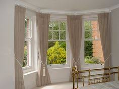 How To Put Curtains On Bay Windows Lovely Bay Window Treatment Off Center Window Can Still Work In A