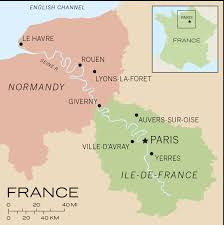 Le Havre France Map by Travels Through The Ile De France And Normandy