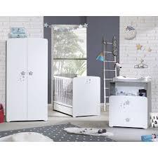 chambre bébé trio nao lit 60x120cm commode armoire de baby