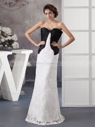 two color wedding dress two tone satin and lace mernaid wedding gown