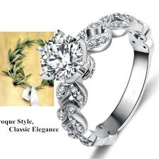 buy rings cheap images Real 925 sterling silver ring anel aneis de diamante cz diamond jpg