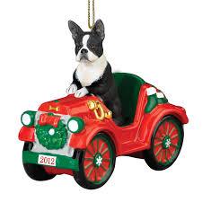 boston terrier ornaments invitation template