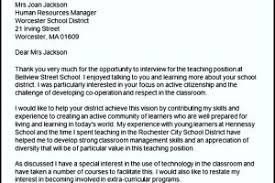 follow up thank you letter for teaching interview cover letter
