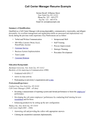 Resume Examples With No Experience Example Of Call Center Resume Without Experience Augustais