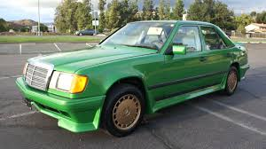 green mercedes benz money green mercedes benz 260e custom spoiler w124 body kit for