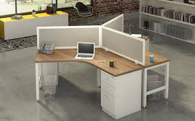 Contract Interiors 120 Degree 3 Person Workstations Joyce Contract Interiors In 3