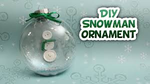 snowman snow globe ornament whitney crafts youtube