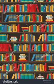 colorful bookshelves design bookstore ereader library stock