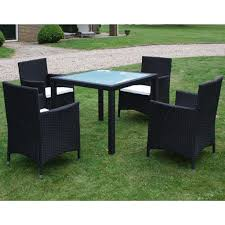 patio table and chairs set ratan outdoor garden furniture 4 seater