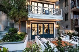 manhattan beach walk street cape modern home with attractive