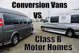 Conversion Van With Bathroom The Difference Between A Conversion Van And A Class B Motor Home