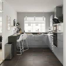 grey kitchen cabinets b q goodhome alisma high gloss grey slab highline cabinet door w 300mm