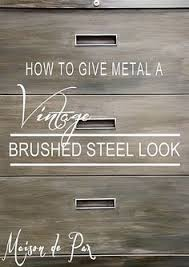 How To Make Old Wood Cabinets Look New How To Give Metal A Brushed Steel Look Diy Tutorial Filing