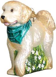 world golden doodle glass tree ornament 3 5 inch