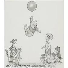 bill justice walt disney u0027s winnie the pooh sketch original art