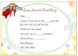letter from the tooth fairy template image collections templates