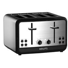 Blue 4 Slice Toaster Krups Savoy 4 Slice Stainless Toaster Kh314050 The Home Depot