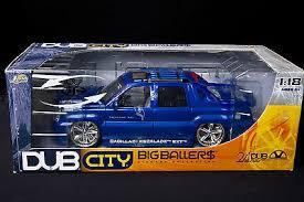 1 18 cadillac escalade dub city big ballers cadillac escalade ext diecast truck 1 18