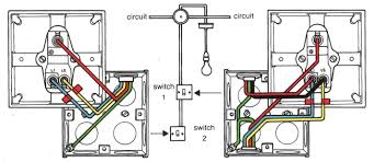 house wiring diagram of a typical circuit inside light switch