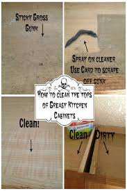 what should you use to clean wooden kitchen cabinets how to clean the tops of greasy kitchen cabinets secret