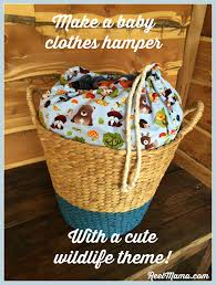 Baby Laundry Hamper by Cute Baby Clothes Hamper With A Wildlife Theme Diy