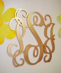 gold monogram gold wooden monogram wall hanging letters monogram door