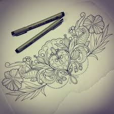 diadem sketch lace tattoos sketches