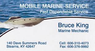 Marine Business Cards Hinkle Printing Business Cards