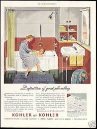 Kohler Bathroom Fixtures by Vintage Household Ads Of The 1950s Page 58