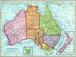 Austrailia Map Australia Now And Then