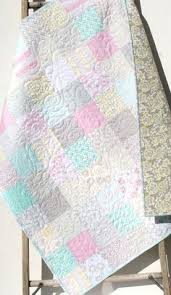 Shabby Chic Baby Bedding For Girls by Last One Shabby Chic Baby Quilt Cottage Style Pastel Light