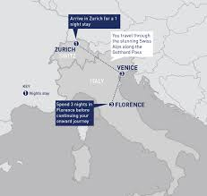 Eurostar Route Map by Italy Category Railbookers