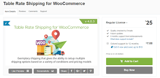 what is table rate shipping woocommerce table rate shipping to customize shipping options learnwoo