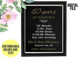cadeau 60 ans de mariage 60 ans anniversaire de mariage cadeau 60e anniversaire