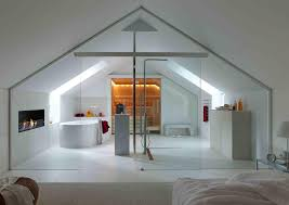 elegant small one bedroom modern attic apartment with exposed wood