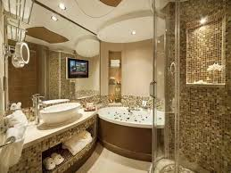 luxurious hotel bathroom designs with curved doors walk in shower