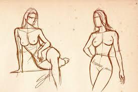 female body sketch by saulvillarroel on deviantart