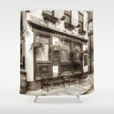 Vintage Shower Curtain Architecture Black White And Vintage Shower Curtains Society6