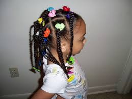 little ponytail hairstyles african american little kids